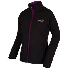 Regatta Ladies Connie Soft Shell Jacket Black/Blackcurrant