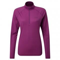 Rab Ladies Pulse Long Sleeve Zip Top Violet