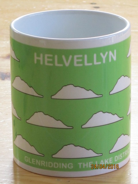 Peaks in Profile Helvellyn Groupie Mug