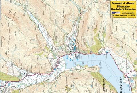 patterdale lake district map Around About Map Ullswater Glenridding Patterdale patterdale lake district map