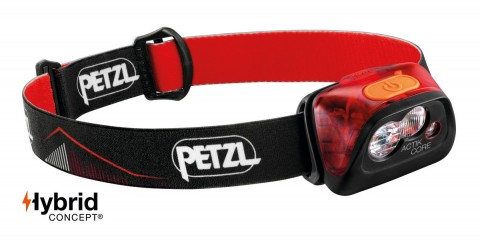 Petzl Actik CORE 450 Lumens Headtorch Red
