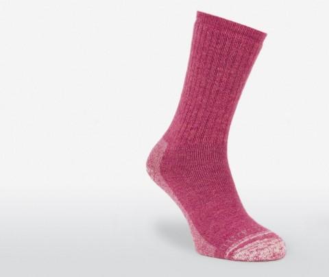 Silverpoint Ladies Alpaca Merino Wool Hiking Socks Raspberry