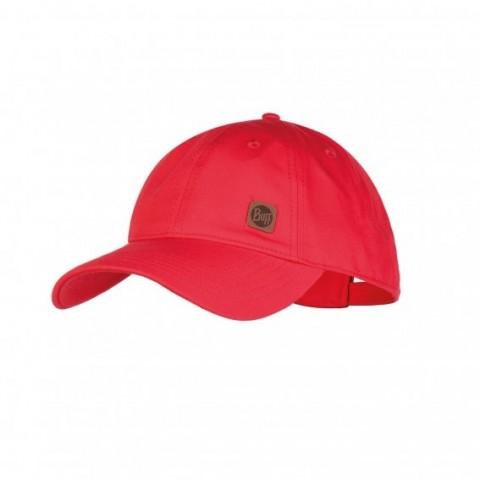 Buff Baseball Cap Red