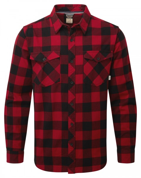 Rab Mens Boundary Shirt Autumn Red/Black