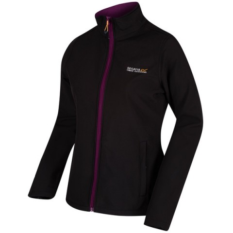 Regatta Ladies Connie Soft Shell Jacket Black/Blackcurrant