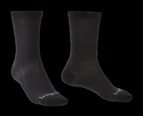 Bridgedale Mens 2 Pack Coolmax Liner Boot Sock Black