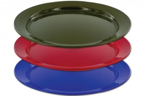 Highlander 24cm Flat Plastic Plate Assorted Colours