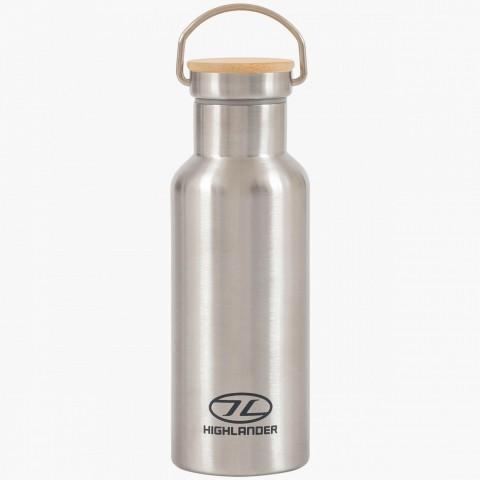 Highlander 500ml Campsite Bottle Silver