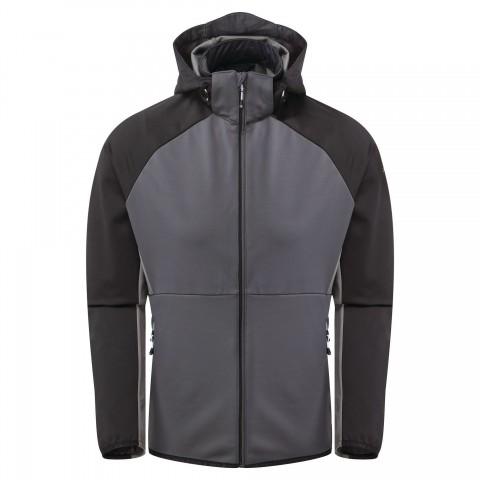 Dare2b Mens Endure Soft Shell Jacket Ebony Grey/Black