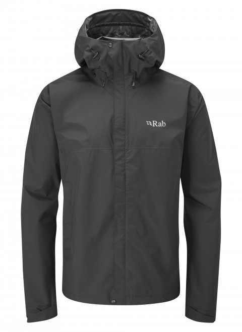 RAB MENS DOWNPOUR ECO JACKET BLACK
