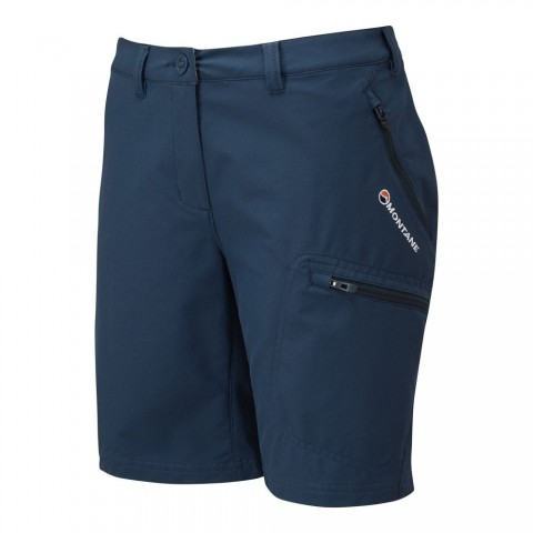 Montane Ladies Dyno Stretch Shorts Narwhal Blue