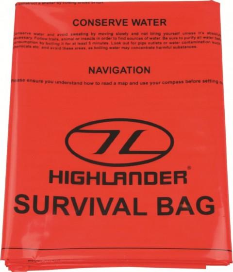 Highlander Emergency Survival Bag Orange