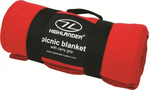 Highlander Fleece Blanket Red