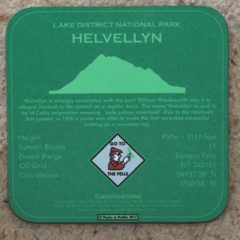 Peaks in Profile Helvellyn Coaster
