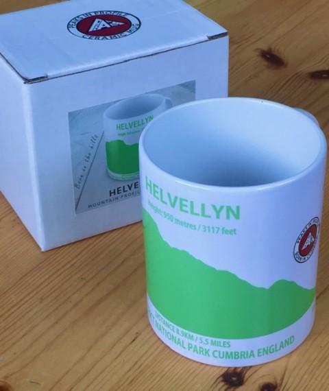 Peaks in Profile Helvellyn Mug Green
