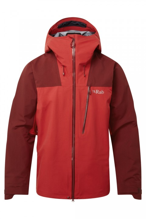 Rab Mens Ladakh GTX Jacket Oxblood Red/Ascent Red