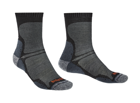 Bridgedale Mens Hike Ultra Light T2 Boot Sock Black