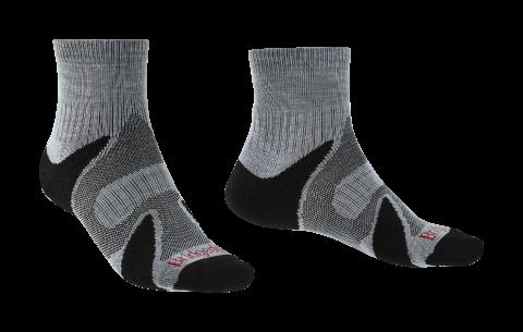 Bridgedale Mens Trail Sport Lightweight Ankle Sock Silver/Black