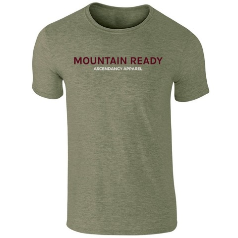 Ascendancy Apparel Mens Mountain Ready Tee Heather Green