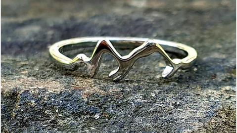 GYOW Sterling Silver Mountain Ring