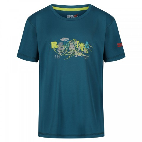 Regatta Kids Alvarado Wicking Tee Sea Blue