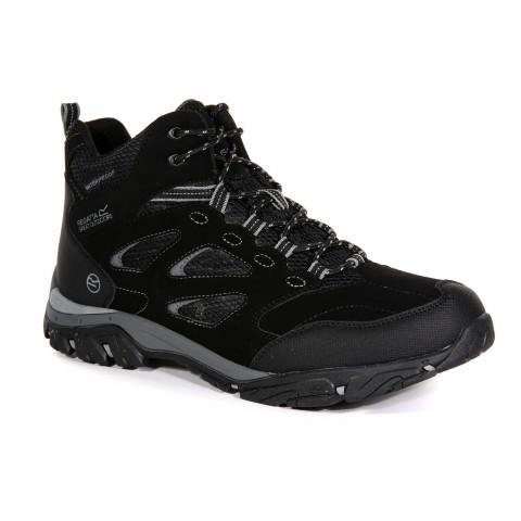 Regatta Mens Holcombe Mid Waterproof Walking Boot Black/Granite