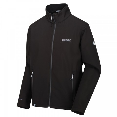 Regatta Mens Cera Softshell Jacket Black