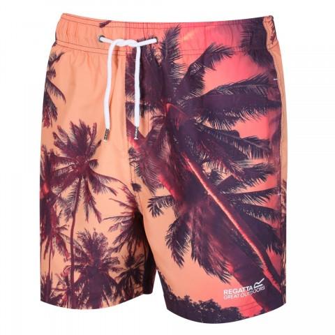 Regatta Mens Mawson Swim Shorts Sunset Print