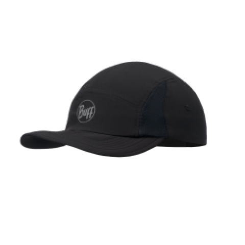 Buff Run Cap R Solid Black