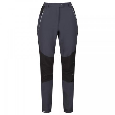 Regatta Ladies Stretch Mountain Trousers Seal Grey/Black