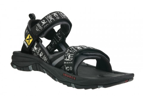 Source Mens Gobi Sandals Black