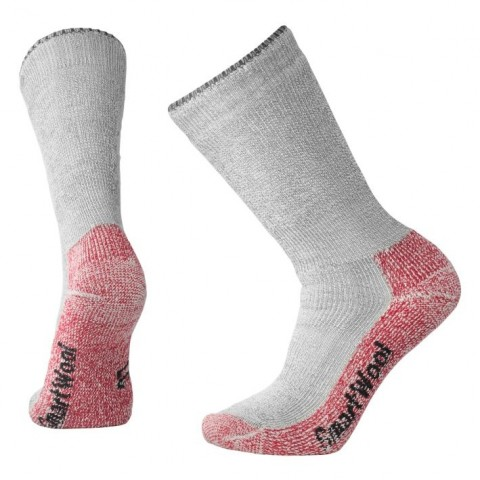 SMARTWOOL MOUNTAINEERING SOCK CHARCOAL/RED
