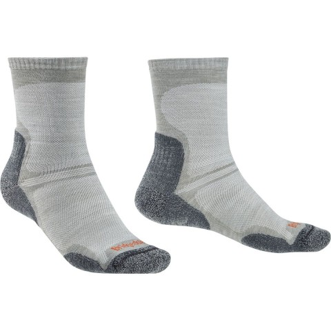 Bridgedale Mens Hike Ultra Light T2 Boot Sock Gunmetal
