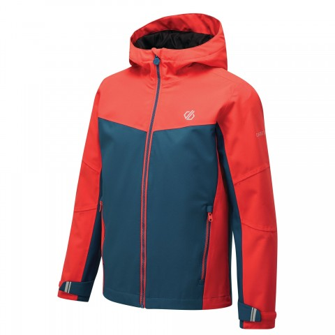 DARE2B KIDS IN THE LEAD JACKET CORAL/PETROL