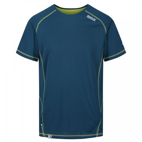 Regatta Mens Virda Wicking Tee Majolica/Lime