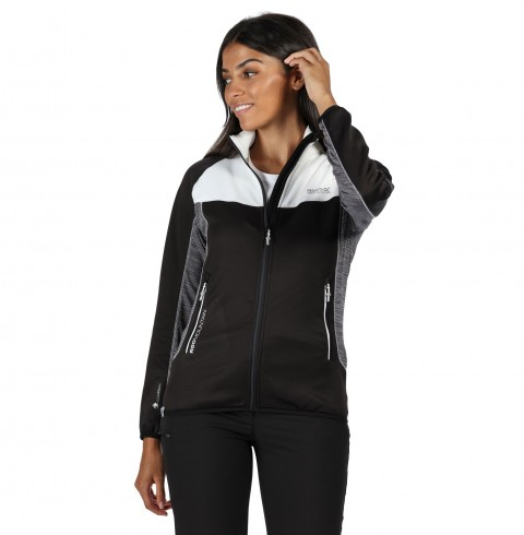 Regatta Ladies Yare Stretch Jacket Black/White