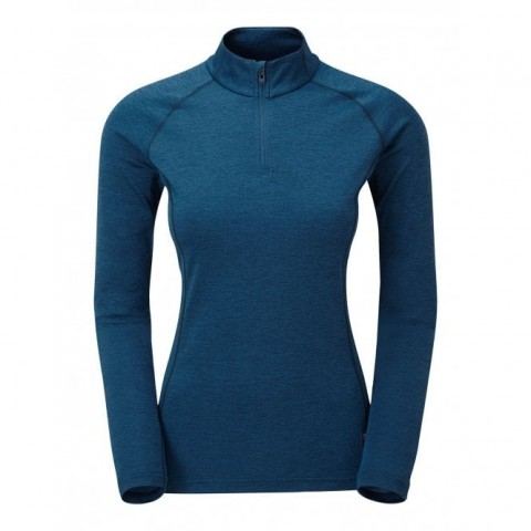 Montane Ladies Dart Zip Neck Narwhal Blue