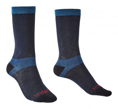 Bridgedale Ladies 2 Pack Coolmax Liner Boot Sock Navy