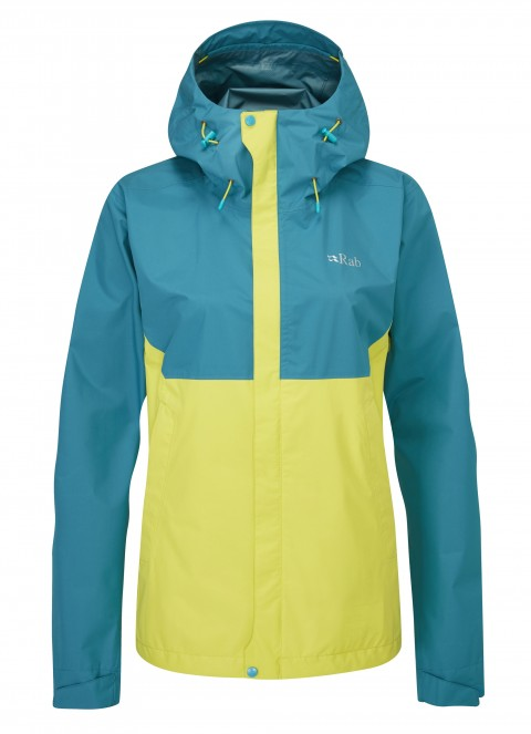 RAB LADIES DOWNPOUR ECO JACKET ULTRAMARINE/ZEST