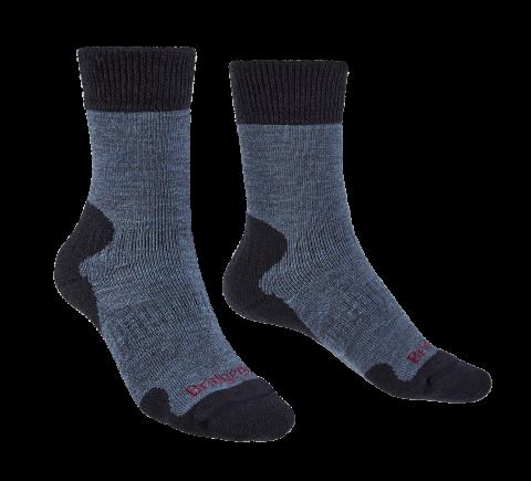 Bridgedale Ladies Explorer Heavyweight Merino Comfort Boot Sock Storm Blue