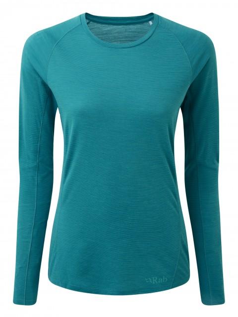 Rab Ladies Forge Merino Long Sleeve Tee Aquamarine