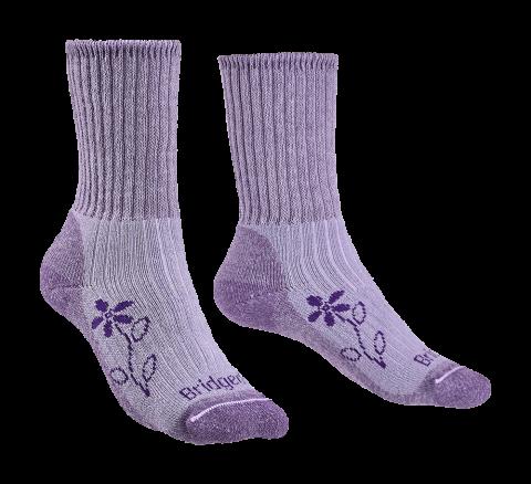 Bridgedale Ladies Hike Midweight Merino Comfort Boot Sock Violet