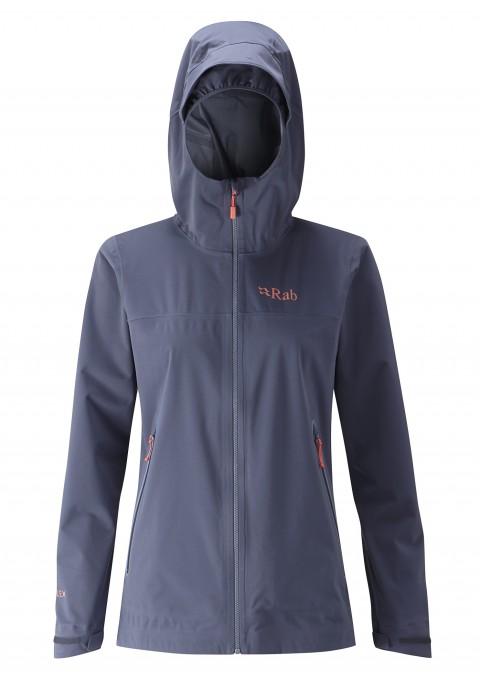 Rab Ladies Kinetic Waterproof Soft Shell Jacket Steel