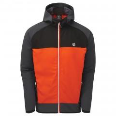 Dare2b Mens Aptile Soft Shell Jacket Trail Blaze Red/Ebony Grey