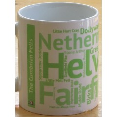 Peaks in Profile Helvellyn Wordie Mug