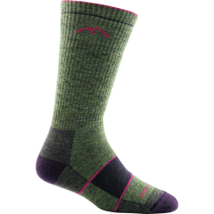 Darn Tough Ladies Hiker Boot Sock Full Cushion Moss Heather