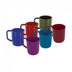Highlander Plastic 1/2 Pint Mug Assorted Colours