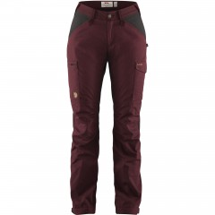 Fjällräven Ladies Kaipak Trousers Dark Garnet/Dark Grey