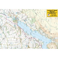 Around & About Map Ullswater Pooley Bridge Aira Force & Gowbarrow Park