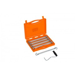 Vango Anchor Steel Peg Set 23cm x 20 Peg with extractor and storage case